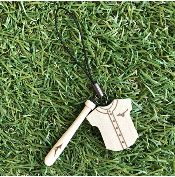 Mizuno Mini Bat/Jersey Key Charm