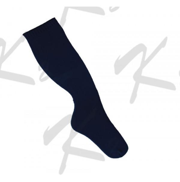 Plain Baseball Socks Black