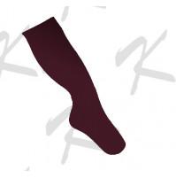 Saman Plain Socks Maroon
