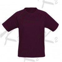 Drifit Short Sleeve Undershirt Maroon