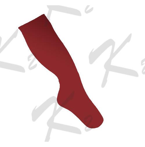 Saman Plain Socks Red