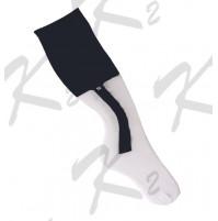 2 in 1 Striker Socks White/Navy