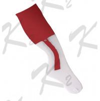 2 in 1 Striker Socks White/Red