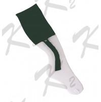 2 in 1 Striker Socks White/Forest