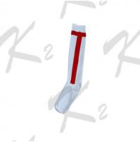 K2 T-Bar Socks White/Red