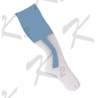 2 in 1 Striker Socks White/Sky