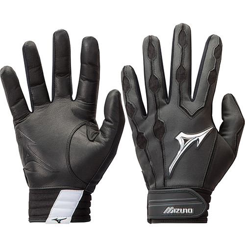 Mizuno Covert Batting Gloves Black Adult