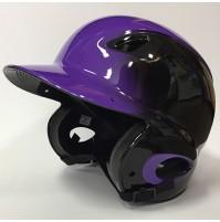 MVP Adjustable Dial Fit Batting Helmet Purple/Black