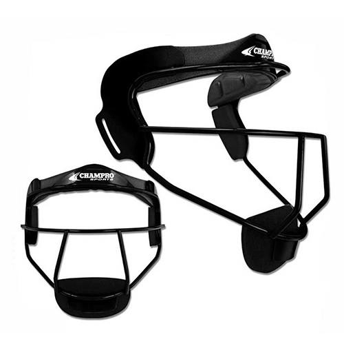 Champro Sports - The Grill Fielder's Face Mask Black