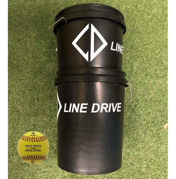 Line Drive K450Y Official Youth League Match Softball - Bucket Combo 2 DOZEN