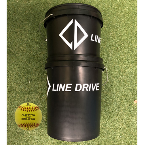 Line Drive K150Y Official Senior Match Softball - Bucket Combo 2 DOZEN