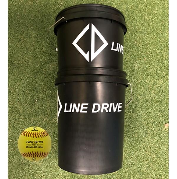 Line Drive K150Y Official Senior Match Softball - Bucket Combo 2 DOZEN