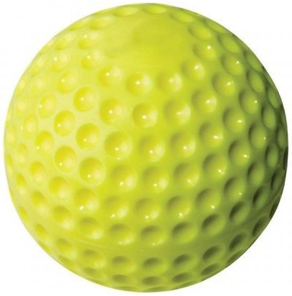 Line Drive Optic Yellow Dimple Softball - DOZEN