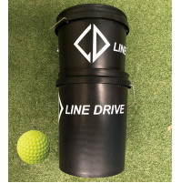 Line Drive Optic Yellow Dimple Softball - Bucket Combo 2 DOZEN