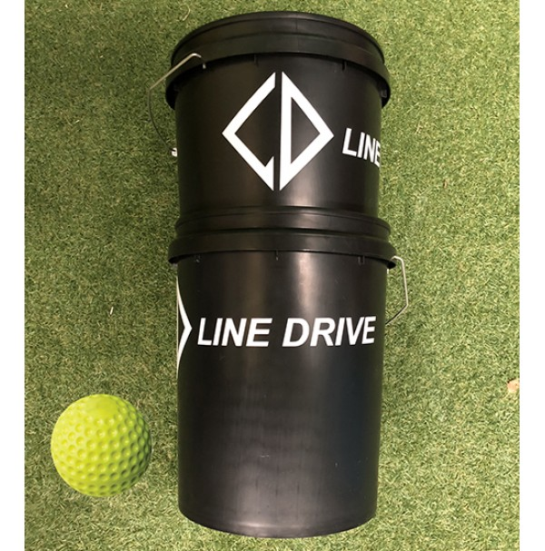 Line Drive Optic Yellow Dimple Softball - Bucket Combo 2 DOZEN